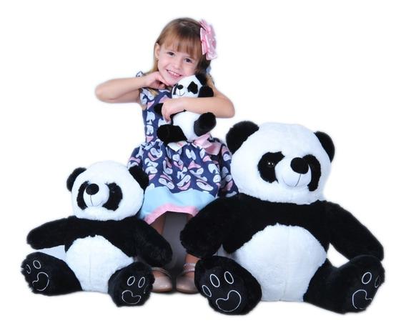 Trio De Urso Panda Para Nicho E Decoração De Quarto Bebê