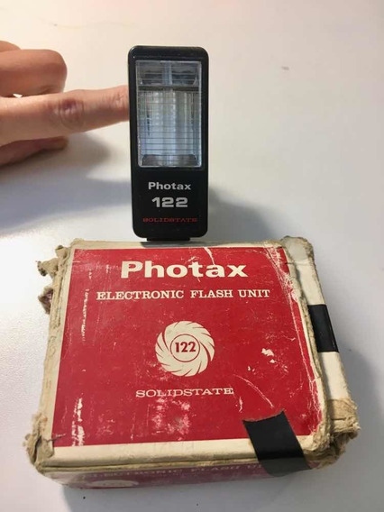 Vintage Flash Eletrônico Photax 122 Antigo Raridade Na Caixa