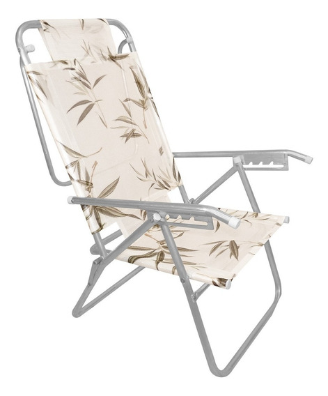 Cadeira De Praia Reclinável Até 100 Kg Zaka Infinita Up