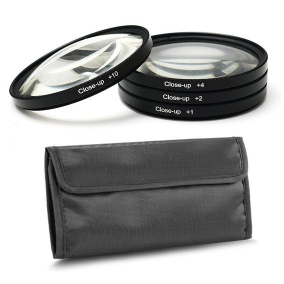 Filtro Close Up Kit 55mm Fotobestway +1 +2 +4 +10 C/estojo