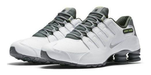 Tenis Masculino Nike Shox Nz Casual Couro Original