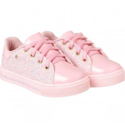 Tenis Pampili 476.004 Rosa Glitter Calçados Bola7