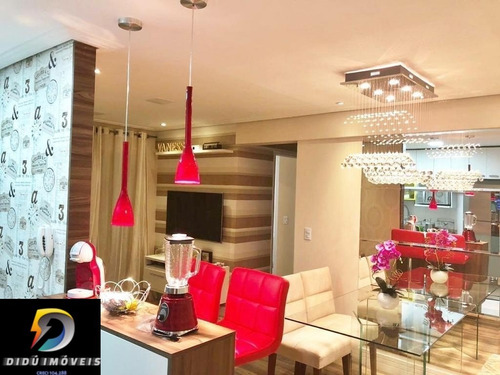 Imagem 1 de 30 de Lindo Apartamento Com 67 M²  Na Fundação Scs, Sendo 2 Dormitórios, 1 Suíte, Varanda Com Churrasqueira, 1 Vaga. - Ap07908 - 69944825