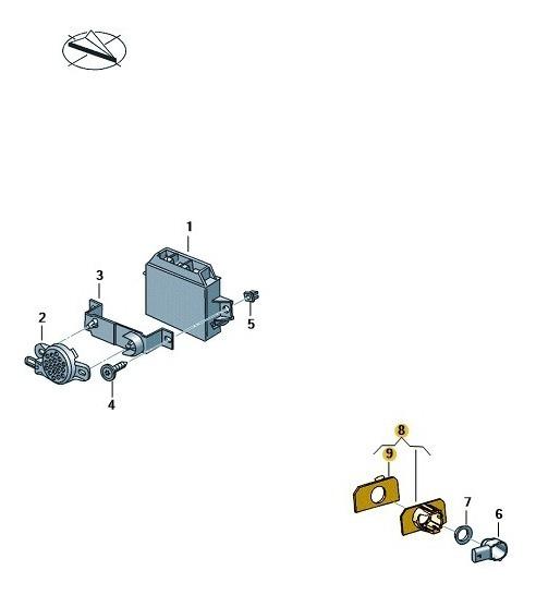 Suporte P Sensor De Ultrassom Saveiro 5u7919491h