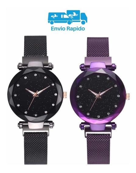 Relógio Pulseira Magnética Céu Estrelado