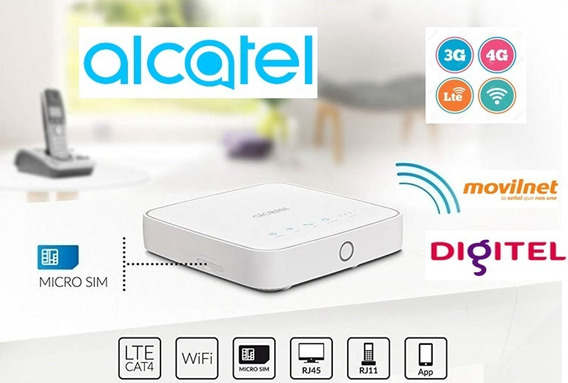 Modem Wifi 4g Lte Y 3g H+ Alcatel Con Internet Ilimitado