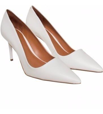 Zapatos Stilettos Cuero Blanco Numero 40