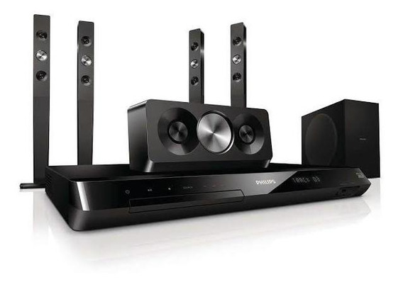 Home Theater Philips Blu Ray 3d Hts5593 Sem Controle