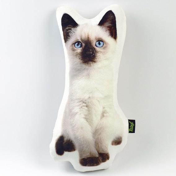 Almofada Pelúcia Soft Gato Siamês - Coleção Cute Cats