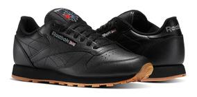 Tenis Reebok Leather Negros Unisex, Zapatillas.