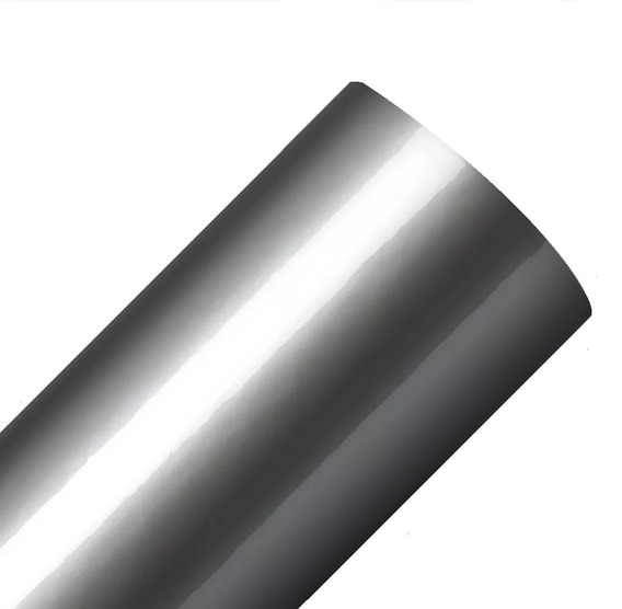 Adesivo Geladeira Prata Tipo Inox - 5m X 1m + Espatula