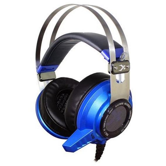 Headset Gamer 7.1 Com Funcao Vibrar Leadership V2 - Azul/pre