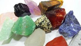 12 Pedras/gemas Brutas Naturais P/coleção Artesanato Colar