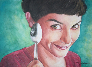 Pintura En Acuarela Amelie (envio Gratis)