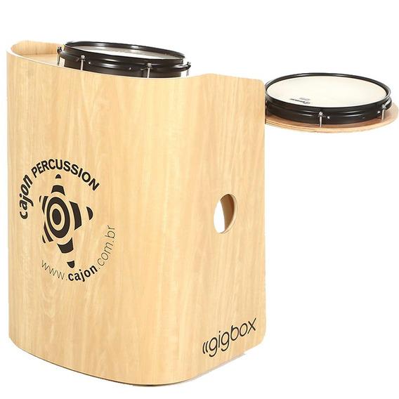 Mini Bateria Tajon Bateron Gig Box Cajón Percussion Marfim