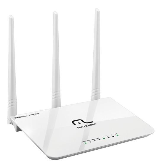 Roteador Multilaser Wireless 300mbps 2.4ghz 3 Antenas 5dbi