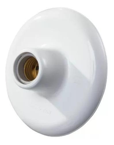 50 Plafon Branco Sobrepor Redondo Branco Bocal De Porcelana