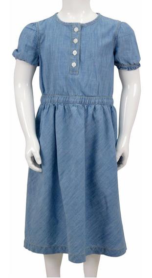 Vestido De Algodón Extra Suave Para Niña. Estilo 7137