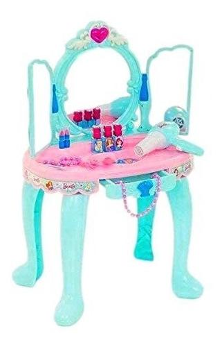 Imagen 1 de 5 de Juguete Mrs Toys Tocador Con Luces Y Sonidos-celeste