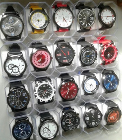 Kit Com 10 Relógios Masculinos Silicone+caixas Atacado Lote