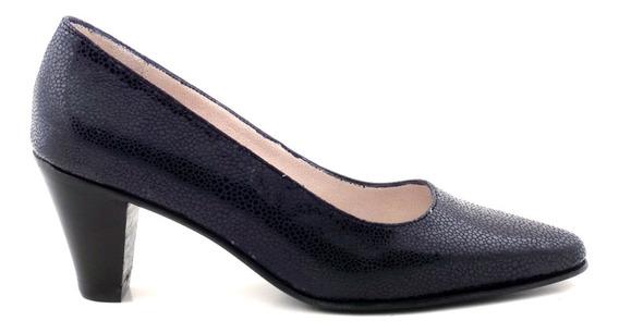 Zapato Mujer Cuero Clasico Taco Briganti - Mccz03120 Gg