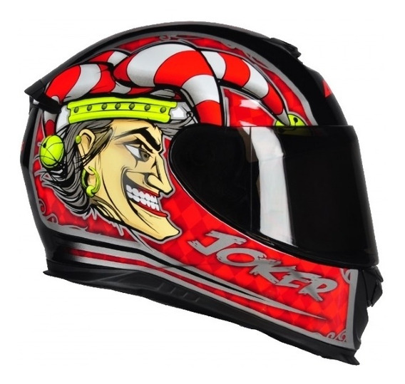 Capacete Axxis Eagle Joker Gloss Black-red