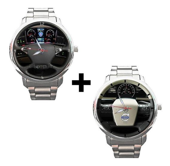 Kit 2 Peças - Relógios Painel Volante - Scania + Volvo