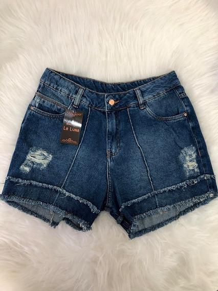 Shorts Jeans Curto Feminino Destroyed Hot Pants Verão 2020