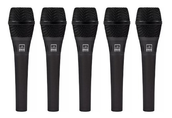 Kit 6 Microfones Waldman S870 Supercardioide Kit Completo!