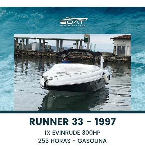 Imagem 1 de 10 de Runnner 33, 1997, 1x Evinrude 300hp - Phantom - Cimitarra