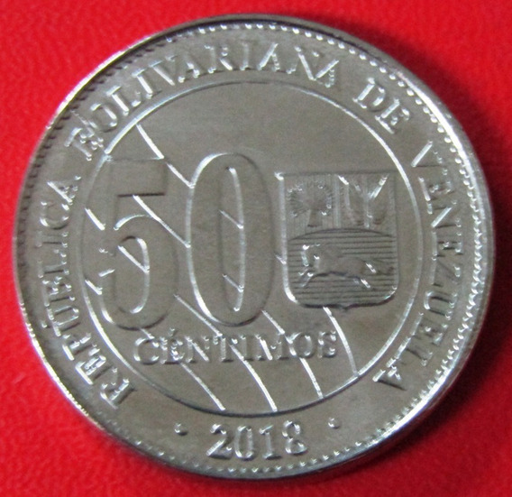 Venezuela Moneda 50 Centimos Bolívar Unc 2018