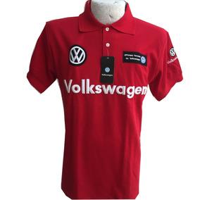 Playera Tipo Polo Volkswagen Roja Envío Gratis