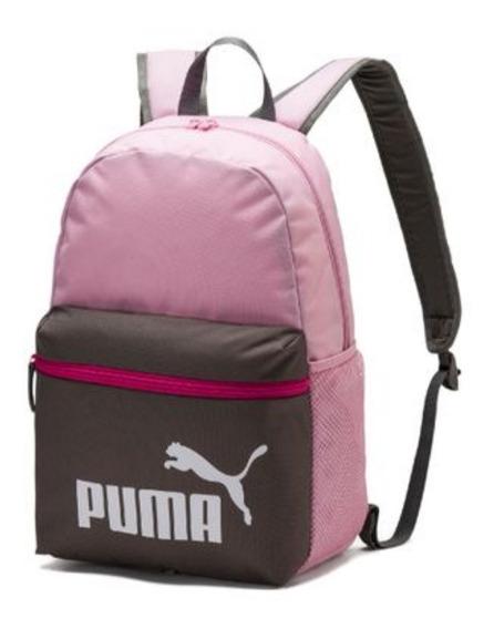 Mochila Rosa Con Gris Puma Original