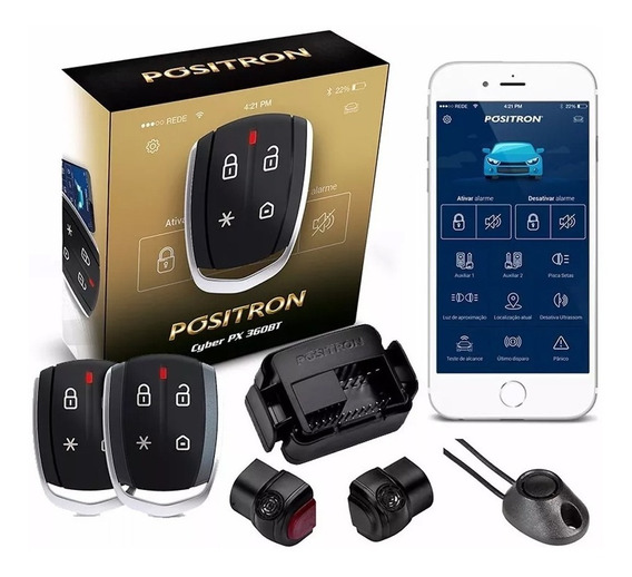 Alarme Automotivo Positron Cyber Px360bt Universal De Carro