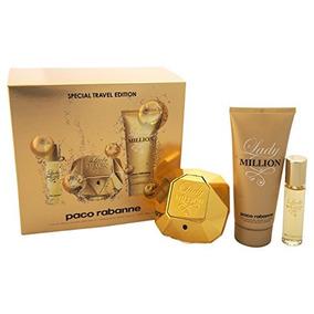Set Lady Million Paco Rabanne Perfume.. 3 Piezas