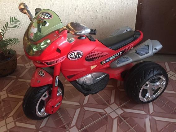 Moto Elétrica Infantil Super Moto Gt2 Turbo Vermelha 12v
