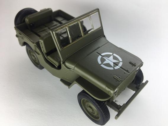 Miniatura Jeep Willys 1941 Exercito