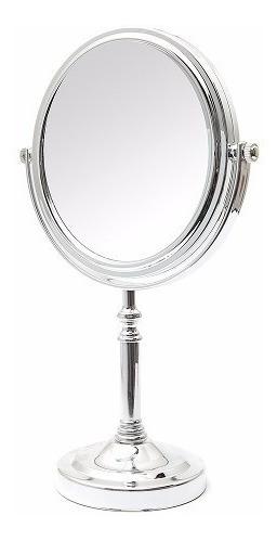 Espelho De Mesa Redondo Dupla Face 2 Lados Aumento 2x Zoom