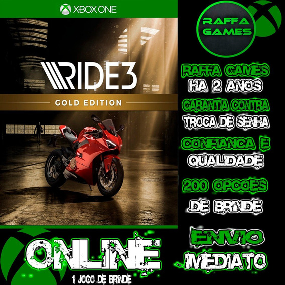 Ride 3 Gold Edition Xbox One Midia Digital Online + Brinde