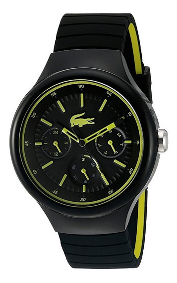 Reloj Lacoste Borneo Fecha/día Silicón Negro Hombre 2010867