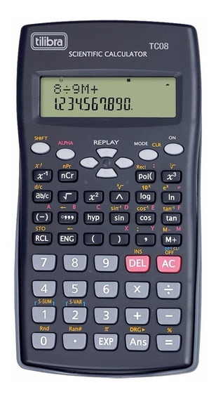 Calculadora Científica Tc08 Preta - Tilibra