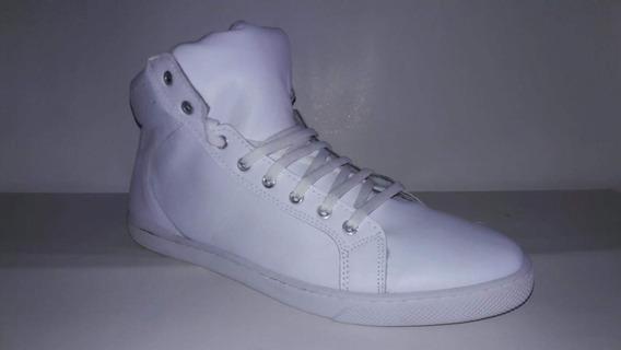 Zapatillas Botitas Cuero Blancas Talle 49 (plantilla 33 Cm)