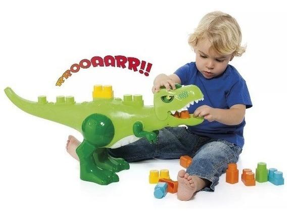 Brinquedo Educativo Babyland Dino Jurassic Blocos De Montar