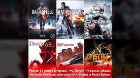 Pacote 12 Games Originais - Código Origin! (preço Único!)