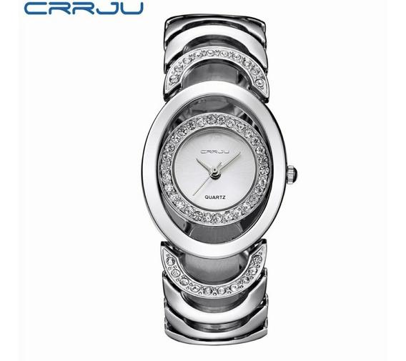 Relógio Feminino Aço Inoxid. C/strass Estojo Personalizado.