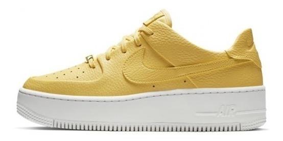 Zapatillas Nike Mujer Air Force 1 Originales Amarilla Stock