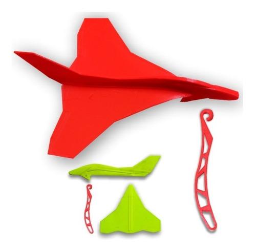 Imagen 1 de 10 de Avion Delta Jet Lanzar Planeador Niños Plastico Impreso 3d