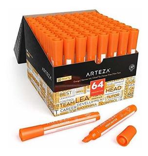 Marcatextos Naranja Neon Arteza 64 Piezas Caja De Plumones