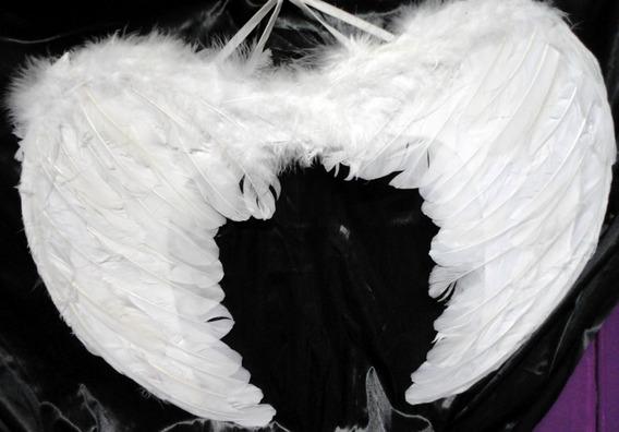 Alas Blancas Plumas Angel 60 X 40cm. Chirimbolos