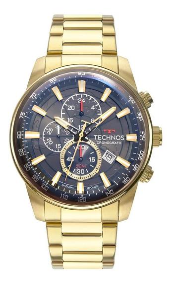 Relógio Technos Masculino Grandtech Dourado Js15fq/4c